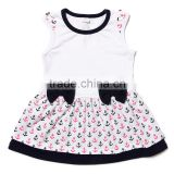 New Designs Flutter Arrows Dress For Baby Girls Cotton Baby Girl Summer Dresses One Piece Smocked Baby Dress