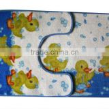 Double printing fabric bath mat