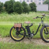 New style electric fat bike beach cruiser with lithium battery electric motorbikes for adults