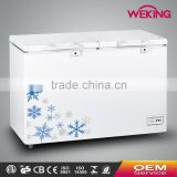 Chinese OEM Wholesale Color Painted Handle Lock Sliding Glass Door Chest Freezer CF-491(413L) with CE CB Certificate