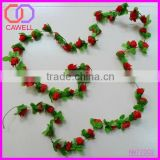 silk peony buds flower string with leaves for wall decor