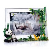 RORO Promotion bamboo crystal glass enamel photo frame picture frame