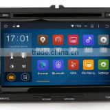 2 din Quad core Black colored car dvd player with GPS for VW skoda