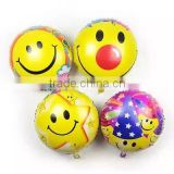 Lovely kids color emoji printed balloon, 18inches helium foil balloon, party/wedding/birthday emoji balloon