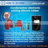 liquid potting silicone rubber for electronic ballast potting module