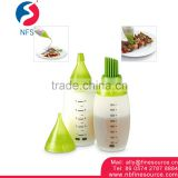 160 ML Portable BBQ Soy Plastic Small Liquid Silicone Sauce Bottle