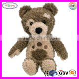 D542 Soft Grey Singing & Dancing Little Stuffed Charley Bear Plush Sitting Toy