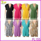 Wholesale Fashion Sexy Women Deep V neck Beach Swimwear Bikini Stretchy Cover Up Sleeveless Dress
