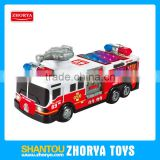 HQ Plastic car B/O 3D light & sound bump and go pumper fire engine toys for children
