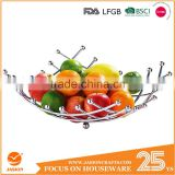 Chromed Steel Silver Fruit Basket WI0073 - kitchen 40cm * 10cm wire stand