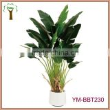 artificial traveller plants potted in planter for indoor decoration