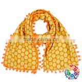 Wholesale baby scarf halloween orange baby soft milk silk scarf