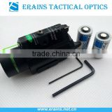 Tactical hunting green laser sight and 200 lumen CREE Q5 LED light combo with strobe laser