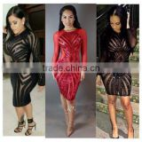 Fashion Sexy Women Sequins Bandage Bodycon Evening Cocktail Party Mini Dress