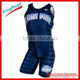 2016 men's Free Custom design Wrestling Singlet sport suit