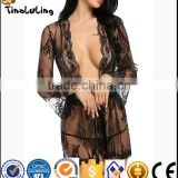 Hot sale black lingerie babydoll sexy sleepwear black transparent sexy strip babydoll lingerie manufactuer for women