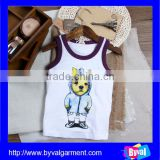 2015 Summer Comfortable Child Vest/ High Quality Tank Top 100%Cotton / Custom Tank Top Child