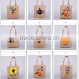 halloween bucket Halloween Tote Bags with Handle Pumpkin Christmas Shopping Bags Festival Gifts Bag Halloween Canvas Bag