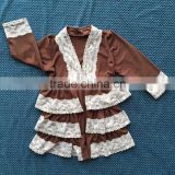 Wholesale Elegant Ruffled Cardigan Toddler Baby Girls Knitted Cardigan Ruffle Sweater Kids Cardigan QL-246