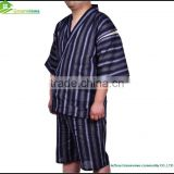 Cotton fibre Japanese traditional homewear kimono style homeclothes men pajamas bathrobe at reasonable price GVXF0001