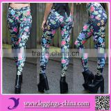 2017 Gorgeous Garden 3D Printed Black Milk Style Blossom Leggings