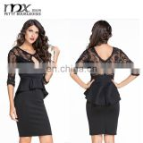 Girls sexy night dress photos with back lace hollow out images sex night dress for women