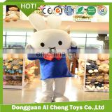 lovely plush rabbit costome toy /cute plush bunny mascot costume
