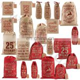 personalized burlap santa bag wholesale jute christmas santa sacks drawstring santa gift bags