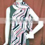 Polyester satin printed stole