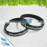 Branded Soft Sport Silicone Gift Bulk Cheap Rubber Wristbands with Adult/Kid Size