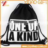 Promotion cheap custom canvas drawstring bag with printing customized logo