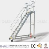 China Industrial Aluminum Warehouse Ladder with Wheels