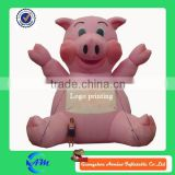 giant customized logo printing inflatable pig for advertising                                                                         Quality Choice
