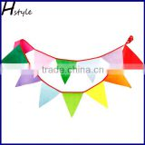 Fabric Bunting Banners 100% Durable Cotton Small Size Kids Flag Multi Colorful Flags For Parties, Holidays, Birthdays-Gre PLC005