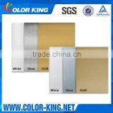 Silver Gold White Colors 0.4MM Sublimation Coated Aluminium Board                                                                         Quality Choice