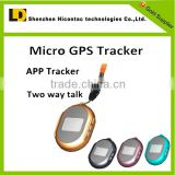 hot sale!!!!small satellite gps tracker/android/ios app tracker