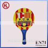 FCB hot sale custom cheap promotional wooden beach tennis racket with beach ball wholesale