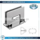 Right angle fillet brass stainless steel patch fitting door closer glass shower door hinge