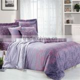 Pigment Print Leaf Bedding Cotton Duvet Cover Bed Set