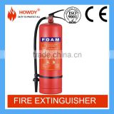 2016 latest cheap afff fire extinguisher 9 liter decorative fire equipment with ISO approval