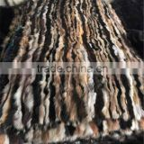 Multicolor Genuine Mink Fur Skin Plate Real Fur Blanket