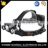 SY-F279 10w Rechargeable T6+2X3W high power led head lamp