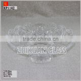 "8""clear glass plate with flower design products from verified China Glass Plate manufacturers"