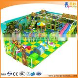 electric soft playground with water bed carousel water slide