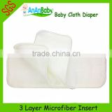 Wholesale China super absorbent Microfiber Baby Diapers Inserts