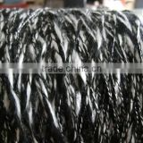 deyed organic wool slub/big belly yarn