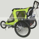 Baby bicycle trailer jogger stroller with light alloy frame