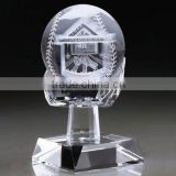 Etched Crystal baseball trophy