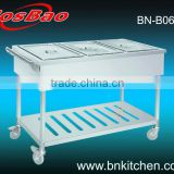 Restaurant equipment mobile food warmer cart