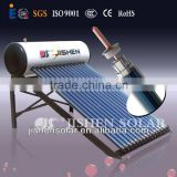 fashionable color steel integrative pressurized solar water heater with three target vacuum tube